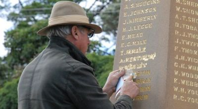anzac cenotaph gold gilded lettering restoration featured