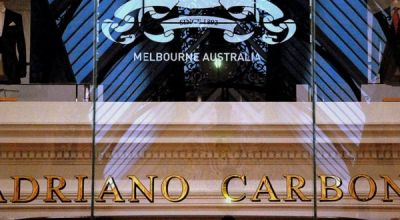 the block arcade adriano carbone master tailor gold gilded window sign 2 finished sign square