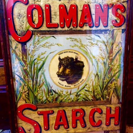 Handpainted Classic Bespoke Old Skool Sign - Colmans Starch