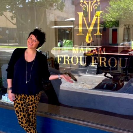 Reverse Gold Leaf Gilded (Shopfront) Window Sign - Madam Frou Frou Carlton, Melbourne