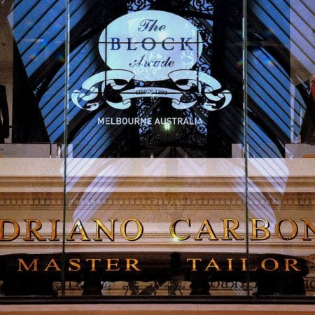 ADRIANO CARBONE Master Tailor<br /> Location:  BLOCK ARCADE Melbourne.