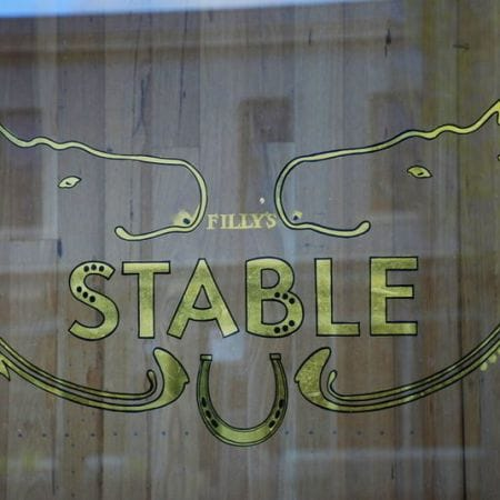 Filly's Stable - Gold Leaf Gilding, Window Signs.  Bridport Street, Albert Park, Melbourne.