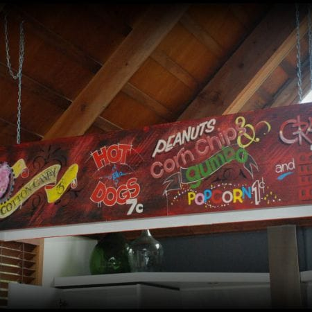 Artistic Hand Painted Circus Theme - Coney Island Style. B&B in Daylesford.