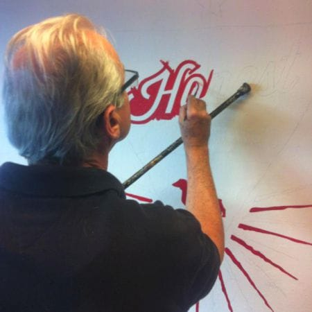 Ray Pedersen Hand Lettering / Painting a Bespoke Sign