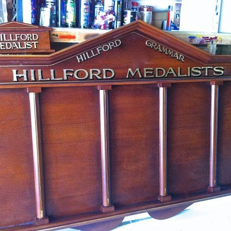 Honour Board Gold Leaf Lettering (Hillford Medalists, Hillford Grammar)