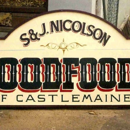 S&J Nicolson Goodfoods of Castlemaine, Shopfront Handpainted Signage (2)
