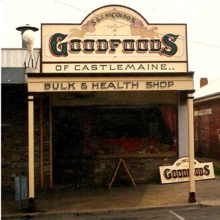 S&J Nicolson Goodfoods of Castlemaine, Shopfront Handpainted Signage