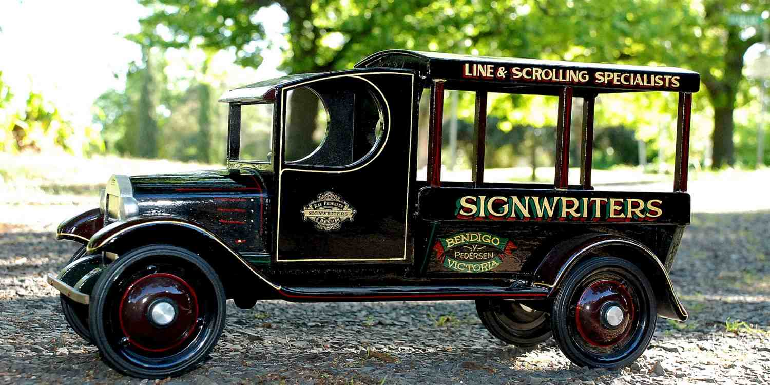 Image of Original Signwriters Delivery Van - Hand Lettering and Line & Scrolling